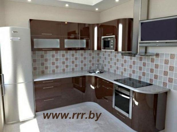 Дизайн бело-красной кухни
