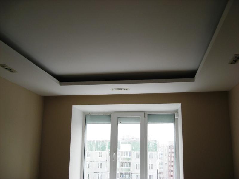 Потолок из гипсокартона своими руками квадраты 84