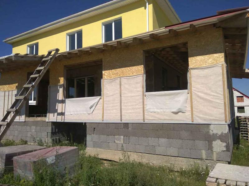 Отделка фасада домов из бруса
