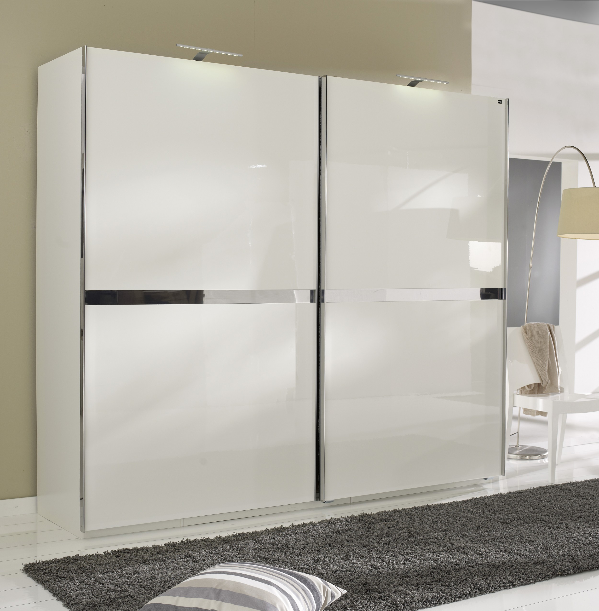 Шкаф-купе для спальни белый глянец - шкафы-купе, заказать ил.