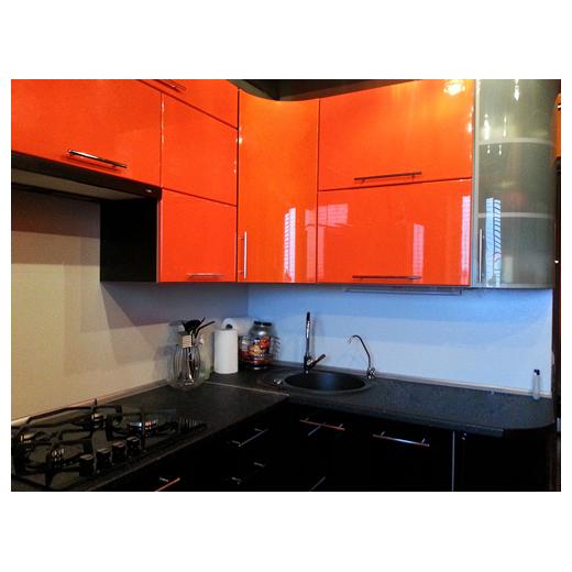 угловые кухни фото оранжевые