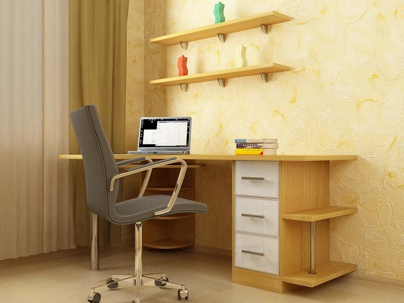 """Стол компьютерный стильный """"ideal-8"""": 305,00 руб. - столы, з."""