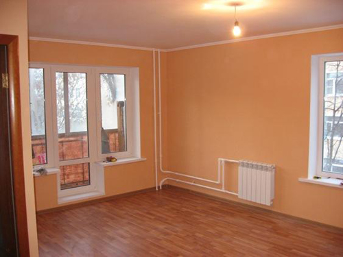 персикового цвета комната фото