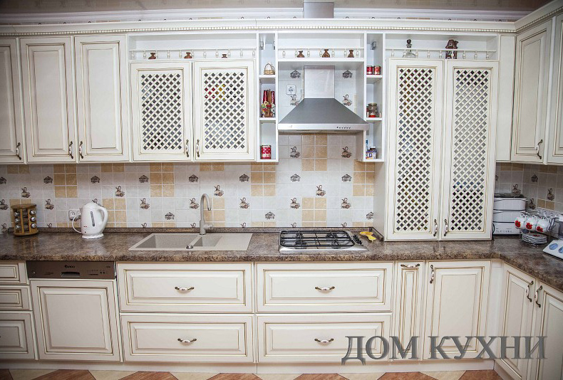 кухни в стиле прованс угловые фото