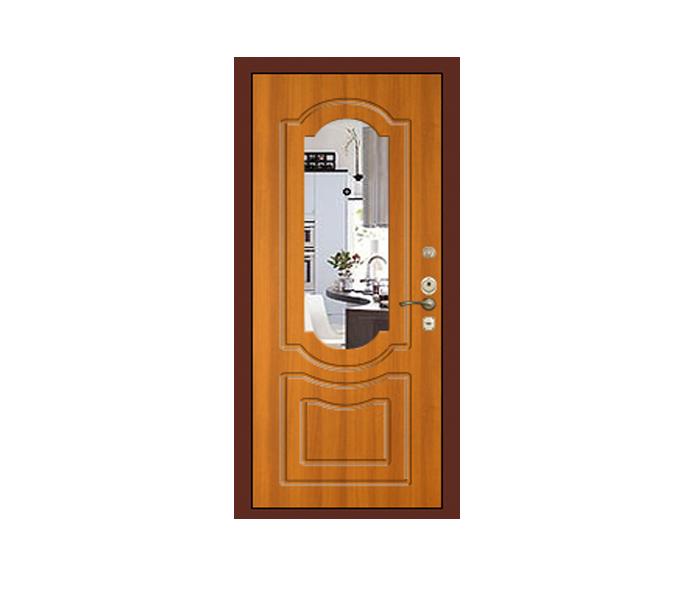 входная дверь со встроенным зеркалом