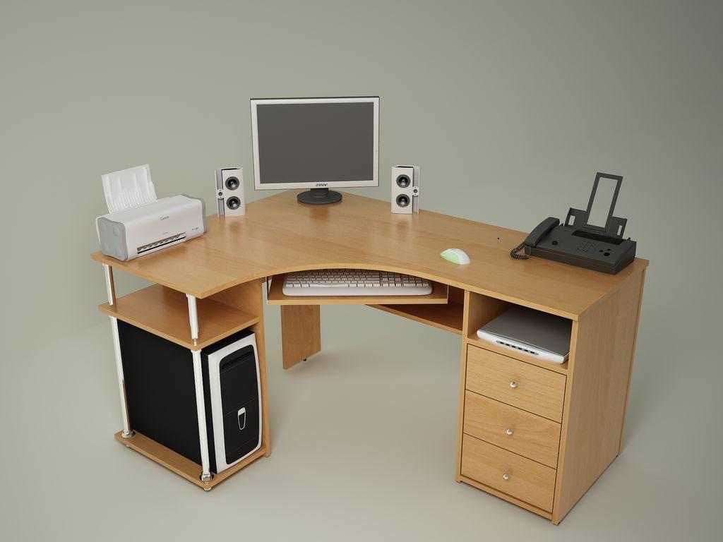 Угловой компьютерный стол - популярные дизайнерские новинки .