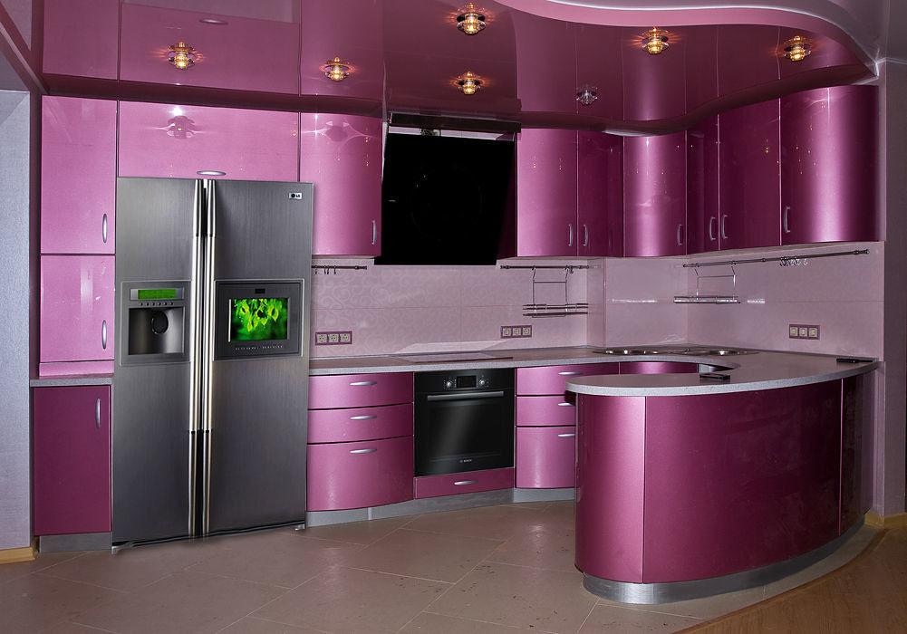 фото кухни цвет фуксия