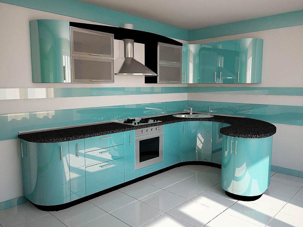 кухни фото бирюзовые