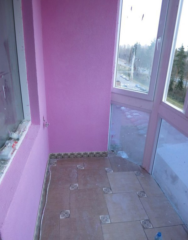 """Ремонт и оштукатуривание балкона """"под ключ"""" - балкон """"под кл."""