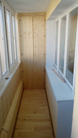 "Ремонт балкона с монтажом шкафчика - балкон ""под ключ"", зака."